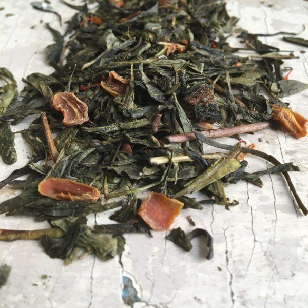Tè verde albicocca