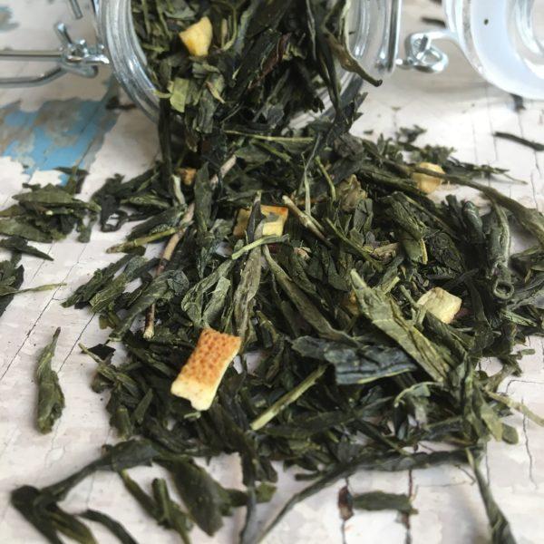 Tè verde zenzero e limone